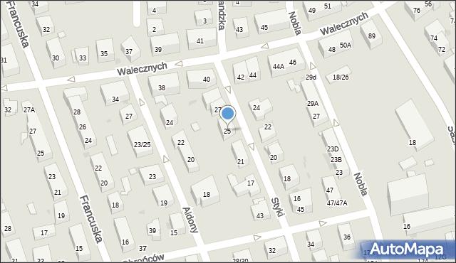 Warszawa, Styki Jana, 25, mapa Warszawy