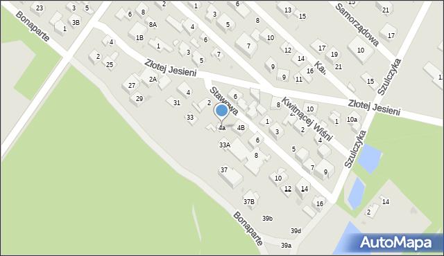 Warszawa, Stawowa, 4a, mapa Warszawy