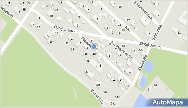 Warszawa, Stawowa, 4B, mapa Warszawy