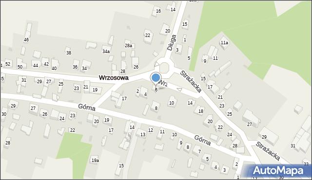 Wrzosowa, Strażacka, 6, mapa Wrzosowa