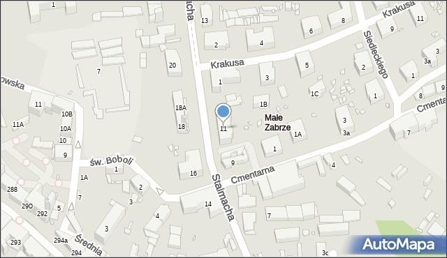 Zabrze, Stalmacha Pawła, 11, mapa Zabrza
