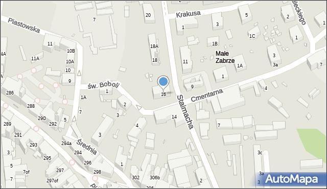 Zabrze, Stalmacha Pawła, 16, mapa Zabrza