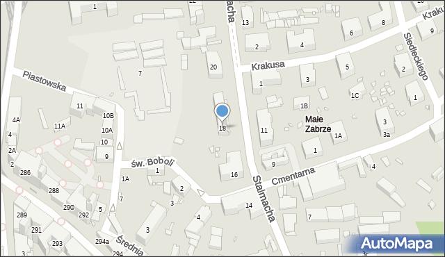 Zabrze, Stalmacha Pawła, 18, mapa Zabrza