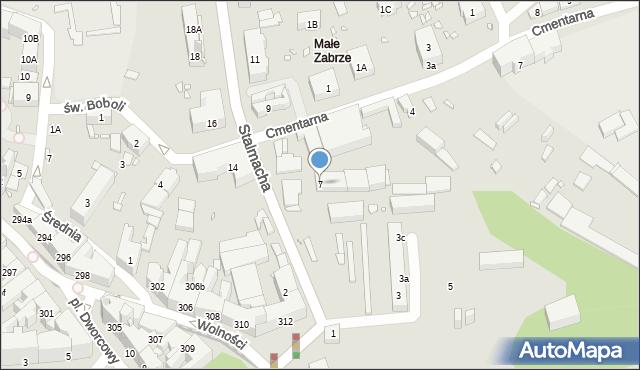 Zabrze, Stalmacha Pawła, 7, mapa Zabrza