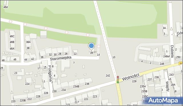 Zabrze, Staromiejska, 16, mapa Zabrza