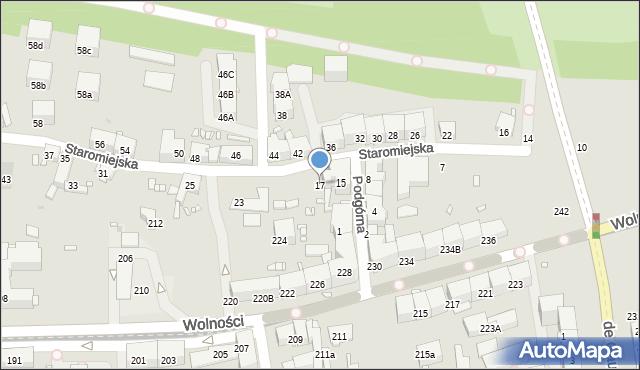 Zabrze, Staromiejska, 17, mapa Zabrza