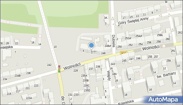 Zabrze, Staromiejska, 2, mapa Zabrza