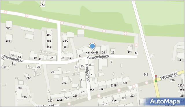 Zabrze, Staromiejska, 30, mapa Zabrza