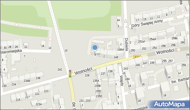 Zabrze, Staromiejska, 4, mapa Zabrza