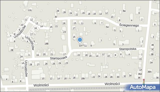 Zabrze, Staropolska, 13, mapa Zabrza