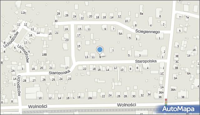 Zabrze, Staropolska, 9, mapa Zabrza