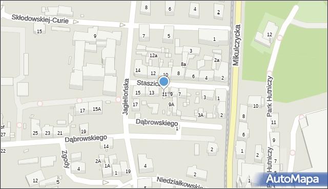 Zabrze, Staszica Stanisława, 11, mapa Zabrza