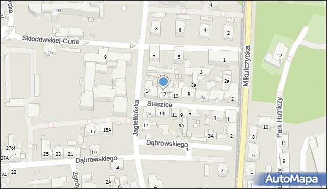 Zabrze, Staszica Stanisława, 12, mapa Zabrza