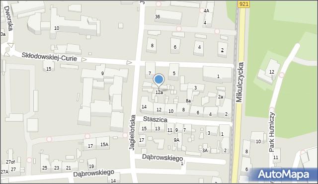 Zabrze, Staszica Stanisława, 12a, mapa Zabrza