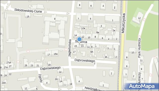 Zabrze, Staszica Stanisława, 13a, mapa Zabrza