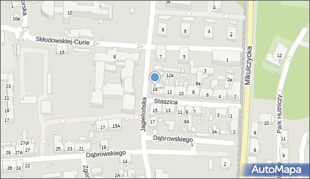 Zabrze, Staszica Stanisława, 14, mapa Zabrza
