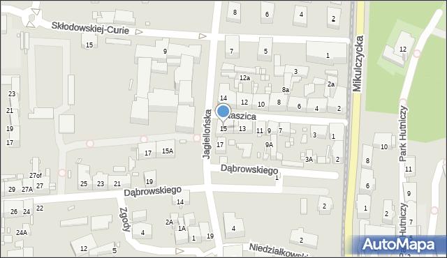 Zabrze, Staszica Stanisława, 15, mapa Zabrza