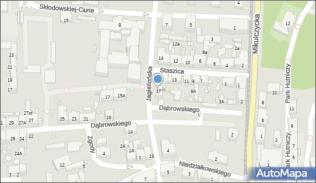 Zabrze, Staszica Stanisława, 17, mapa Zabrza