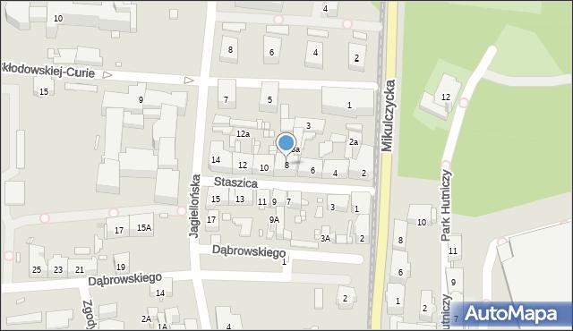 Zabrze, Staszica Stanisława, 8, mapa Zabrza
