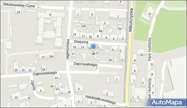 Zabrze, Staszica Stanisława, 9A, mapa Zabrza