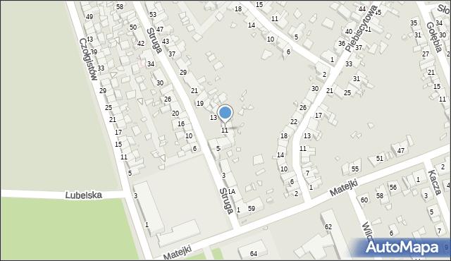 Zabrze, Struga Andrzeja, 11, mapa Zabrza