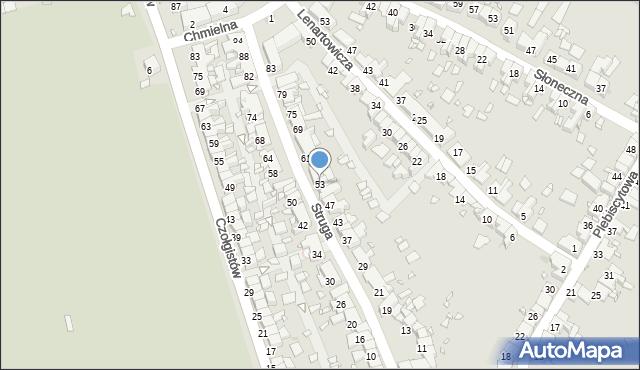Zabrze, Struga Andrzeja, 53, mapa Zabrza