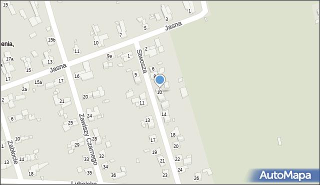 Zabrze, Stwosza Wita, 10, mapa Zabrza