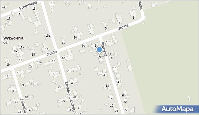 Zabrze, Stwosza Wita, 5, mapa Zabrza