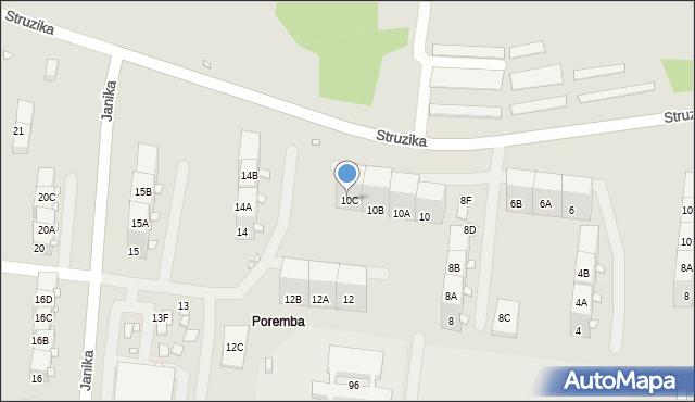 Zabrze, Struzika Stanisława, 10C, mapa Zabrza