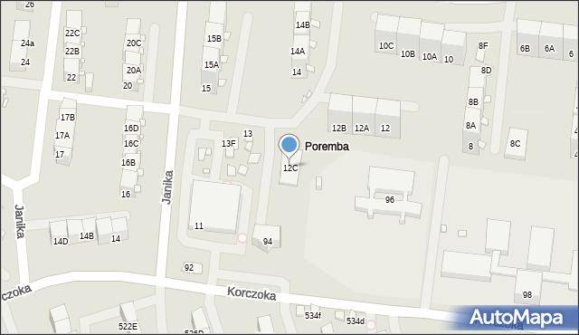 Zabrze, Struzika Stanisława, 12C, mapa Zabrza