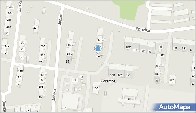 Zabrze, Struzika Stanisława, 14, mapa Zabrza
