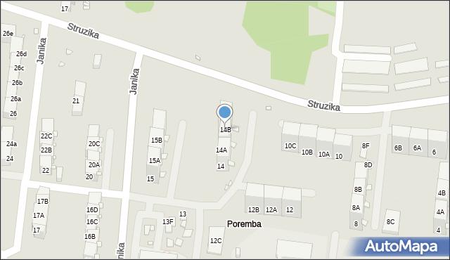 Zabrze, Struzika Stanisława, 14B, mapa Zabrza