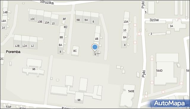Zabrze, Struzika Stanisława, 4, mapa Zabrza