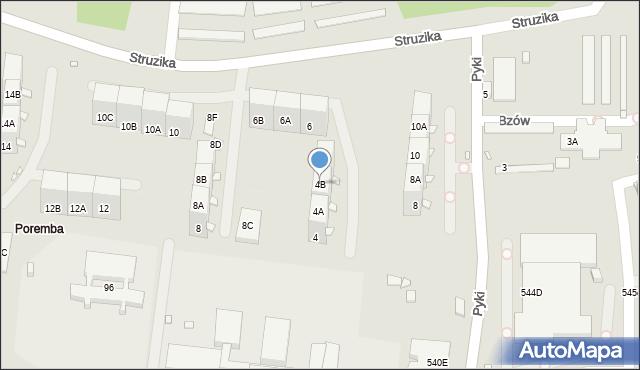 Zabrze, Struzika Stanisława, 4B, mapa Zabrza