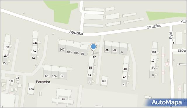 Zabrze, Struzika Stanisława, 8E, mapa Zabrza