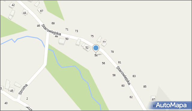 Zakliczyn, Starowiejska, 54, mapa Zakliczyn