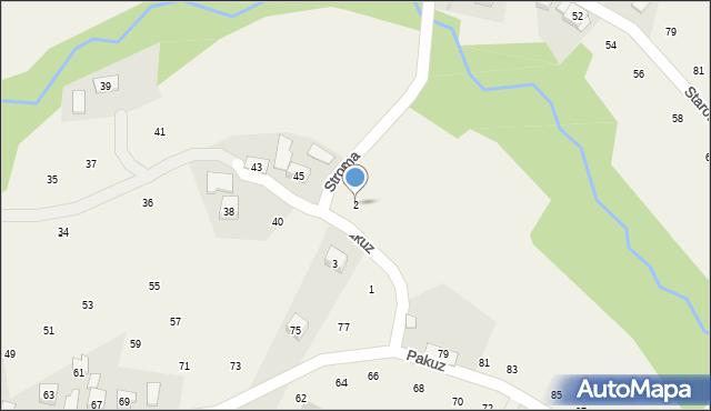 Zakliczyn, Stroma, 2, mapa Zakliczyn
