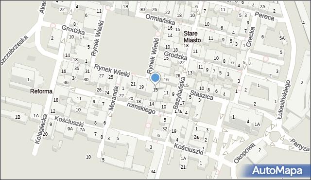Zamość, Staszica Stanisława, 15, mapa Zamościa