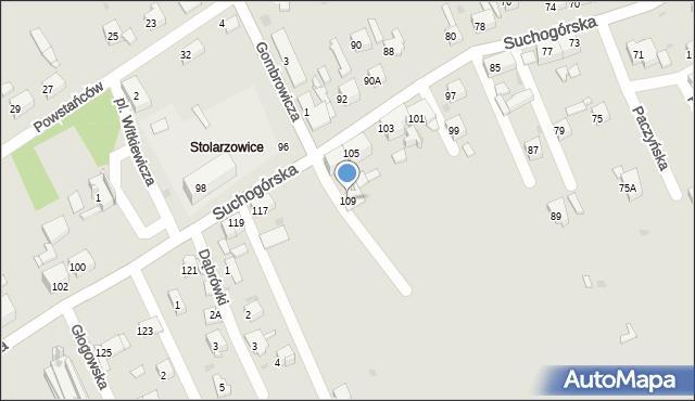 Bytom, Suchogórska, 109, mapa Bytomia