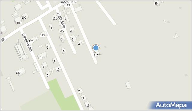 Bytom, Suchogórska, 115, mapa Bytomia