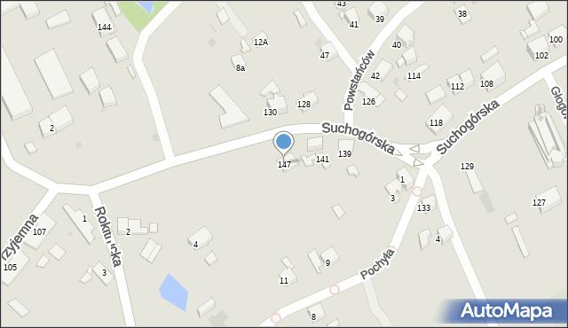 Bytom, Suchogórska, 147, mapa Bytomia