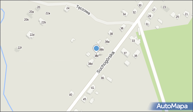 Bytom, Suchogórska, 38c, mapa Bytomia