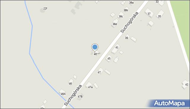 Bytom, Suchogórska, 40, mapa Bytomia