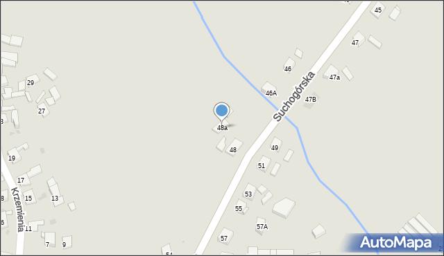 Bytom, Suchogórska, 48a, mapa Bytomia