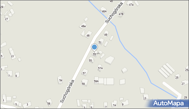 Bytom, Suchogórska, 53, mapa Bytomia