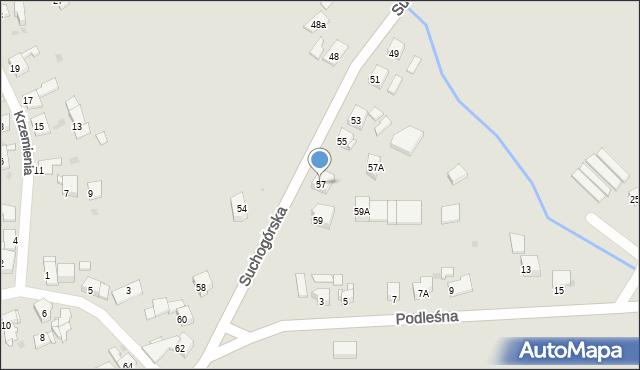 Bytom, Suchogórska, 57, mapa Bytomia