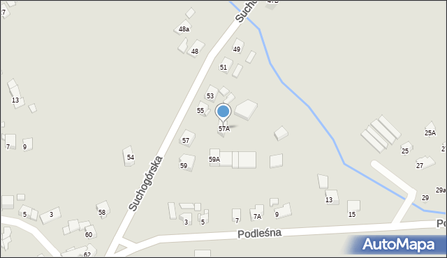 Bytom, Suchogórska, 57A, mapa Bytomia