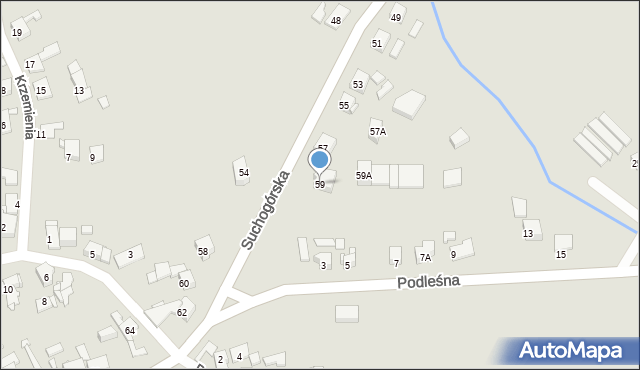 Bytom, Suchogórska, 59, mapa Bytomia