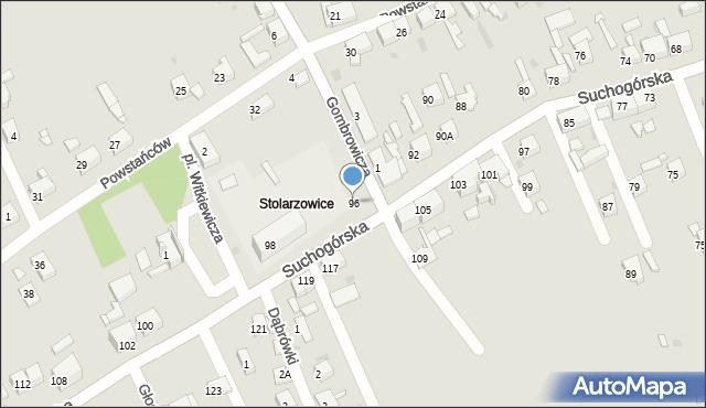 Bytom, Suchogórska, 96, mapa Bytomia