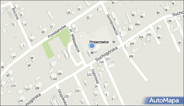 Bytom, Suchogórska, 98, mapa Bytomia